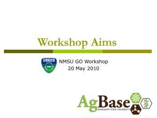 Workshop Aims