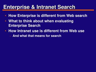 Enterprise & Intranet Search