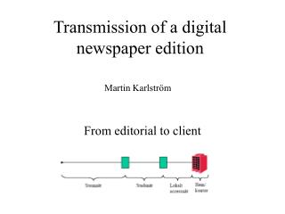 Transmission of a digital newspaper edition