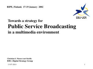 Towards a strategy for Public Service Broadcasting in a multimedia environment
