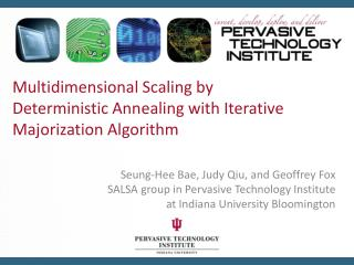 Multidimensional Scaling by Deterministic Annealing with Iterative  Majorization  Algorithm