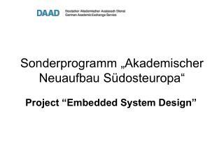 """Sonderprogramm """"Akademischer Neuaufbau Südosteuropa"""""""