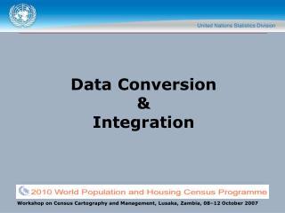 Data Conversion  &  Integration