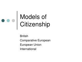 Models of Citizenship
