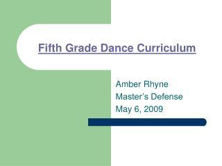 Fifth Grade Dance Curriculum