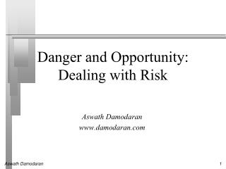 Danger and Opportunity: Dealing with Risk