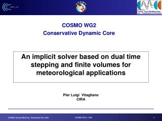 An implicit solver based on dual time stepping and finite volumes for meteorological applications Pier Luigi  Vitaglian
