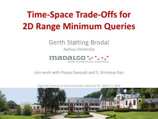 Time-Space Trade-Offs  for  2D Range Minimum  Queries