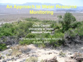 An Approach to Water Resource Monitoring