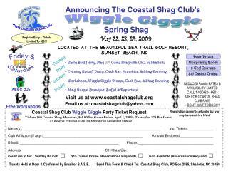 Announcing The Coastal Shag Club�s