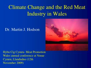 Climate Change and the Red Meat Industry in Wales