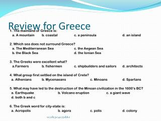 Review for Greece