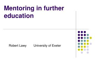Mentoring in further education