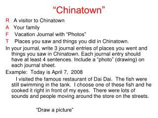 �Chinatown�
