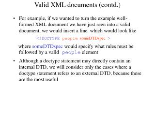 Valid XML documents (contd.)