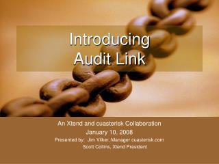 Introducing  Audit Link