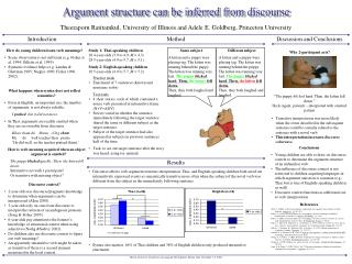 Argument structure can be inferred from discourse