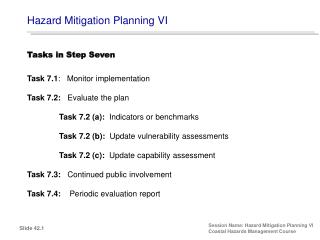 Hazard Mitigation Planning VI