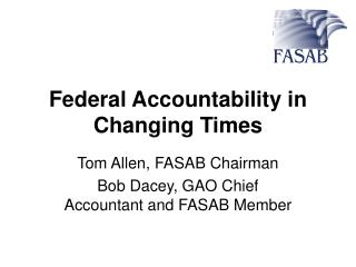 Federal Accountability in Changing Times