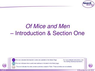 Of Mice and Men  –  Introduction & Section One