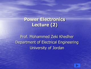 Power Electronics Lecture (2)