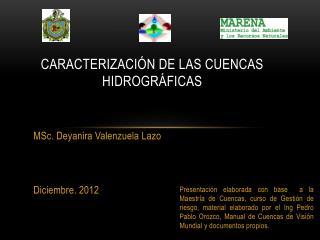 CARACTERIZACIÓN DE LAS CUENCAS Hidrográficas