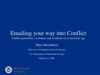 Emailing your way into Conflict  Conflict generation, escalation, and resolution in an electronic age