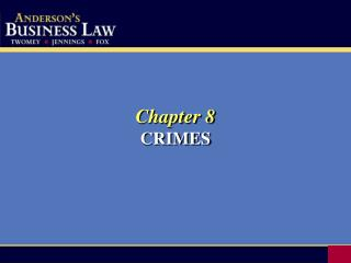 Chapter 8 CRIMES