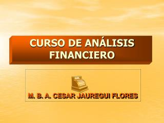 CURSO DE AN�LISIS FINANCIERO