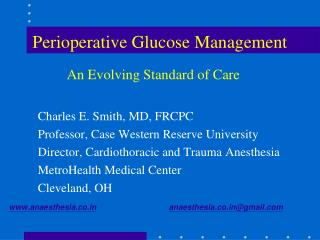 Perioperative Glucose Management