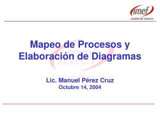 Mapeo de Procesos y Elaboración de Diagramas
