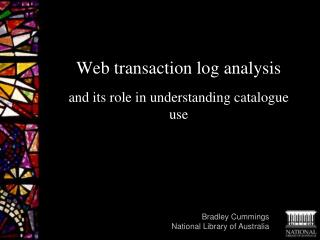 Web transaction  log analysis and its role in understanding catalogue use