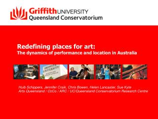 Redefining places for art: The dynamics of performance and location in Australia