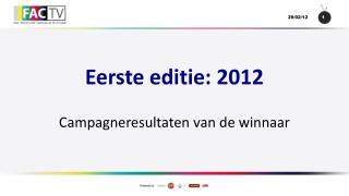 Eerste editie: 2012