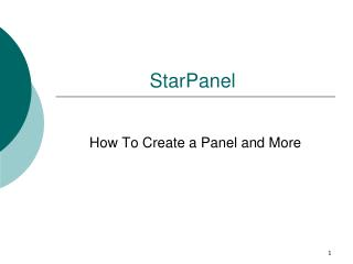 StarPanel