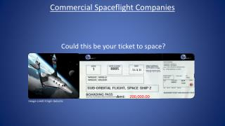 Could this be your ticket to space?
