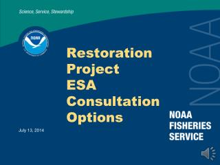Restoration Project  ESA Consultation Options