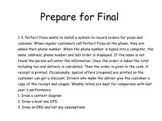 Prepare for Final