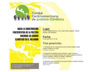 POLITICA CUBANA DE CAMBIO CLIMATICO
