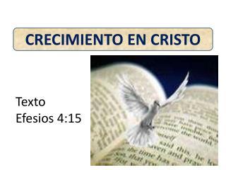 CRECIMIENTO EN CRISTO
