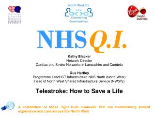 Kathy Blacker Network Director  Cardiac and Stroke Networks in Lancashire and Cumbria  Gus Hartley Programme Lead ICT I