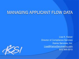 Managing Applicant Flow Data
