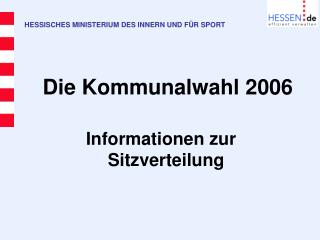 Die Kommunalwahl 2006