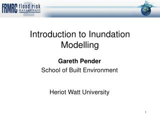 Gareth Pender School of Built Environment