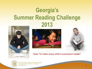 Georgia's  Summer Reading Challenge 2013