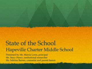 State of the School  Hapeville Charter Middle School