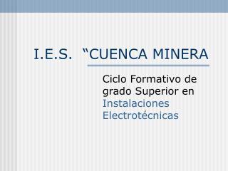 """I.E.S.  """"CUENCA MINERA"""