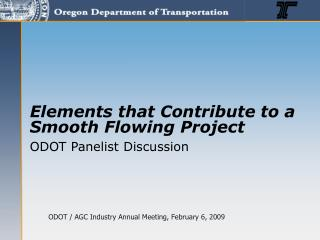 ODOT / AGC Industry Annual Meeting, February 6, 2009