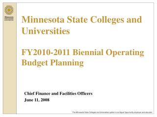 Chief Finance and Facilities Officers June 11, 2008