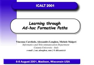 Learning through  Ad-hoc Formative Paths